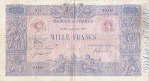 France 1000 Francs Rose et Bleu - 25-05-1917 - Série H.1045