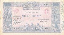 France 1000 Francs Rose et Bleu - 26-01-1925 - Série O.1837 - TB+