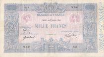 France 1000 Francs Rose et Bleu - 27-07-1914 - Série W.900 - PTTB