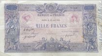 France 1000 Francs Rose et Bleu - 30-06-1919 - Série T.1238 - TB
