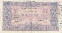France 1000 Francs Rose et Bleu - 31-07-1926 - Série X.2602