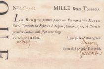 France 1000 Livres Banque de Law - 01-01-1720 , typographié - 264152 - Faux d\'époque