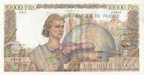 France 10000 Francs - 01-09-1955 Serial J.9413 - aUNC