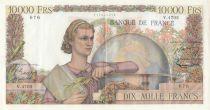 France 10000 Francs - 02-04-1953 Serial V.4705 - XF