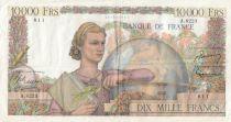 France 10000 Francs - 03-03-1955Serial A.8223 - VF