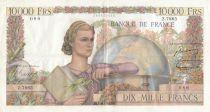 France 10000 Francs - 04-11-1954 Serial Z.7865 - VF
