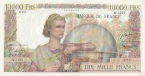 France 10000 Francs - 07-06-1951 Serial W.1577 - VF