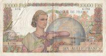 France 10000 Francs - 16-08-1951 Serial E.1792 - Good