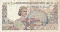 France 10000 Francs - 21-02-1946 Serial S.44-105 - F