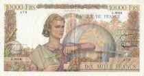 France 10000 Francs  01-12-1955 Serial G.9928 - VF