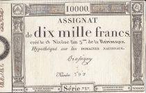 France 10000 Francs 18 Nivose An III - 7.1.1795 - Sign. Bassigny
