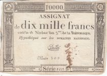 France 10000 Francs 18 Nivose An III - 7.1.1795 - Sign. Duflog