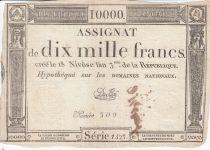 France 10000 Francs 18 Nivose An III - 7.1.1795 - Sign. Duflog