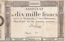France 10000 Francs 18 Nivose Year III - 7.1.1795 - Sign. Bauduin