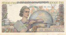 France 10000 Francs Génie Français - 01-03-1951 Série W.1231 - TB