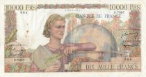 France 10000 Francs Génie Français - 01-07-1954 - Série N.7007