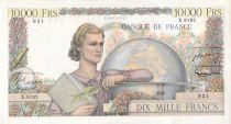France 10000 Francs Génie Français - 03-03-1955 Série X.8197 - TTB