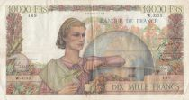 France 10000 Francs Génie Français - 04-09-1952 Série W.3255 - TTB