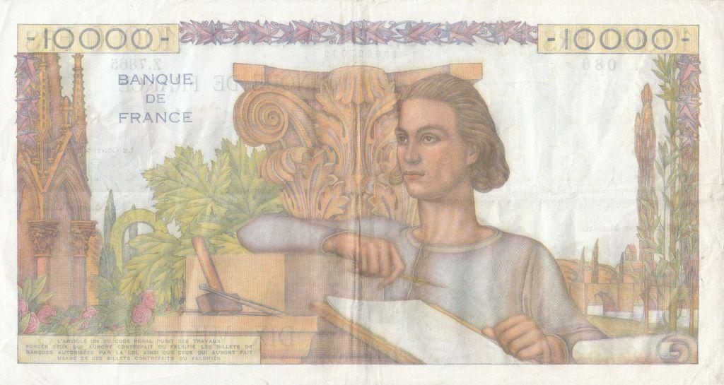 France 10000 Francs Génie Français - 04-11-1954 Série Z.7865 - TTB