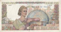 France 10000 Francs Génie Français - 04-12-1952 - Série G.3675 - TTB