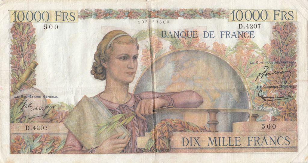 France 10000 Francs Génie Français - 05-02-1953 Série D.4207 - TTB