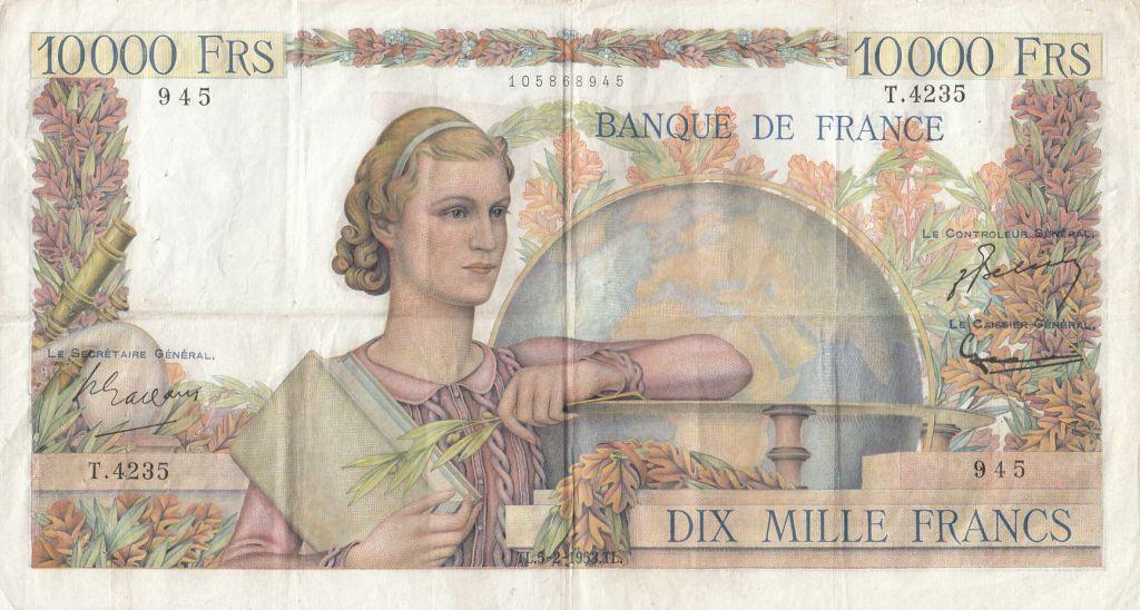 France 10000 Francs Génie Français - 05-02-1953 Série T.4235 - TTB