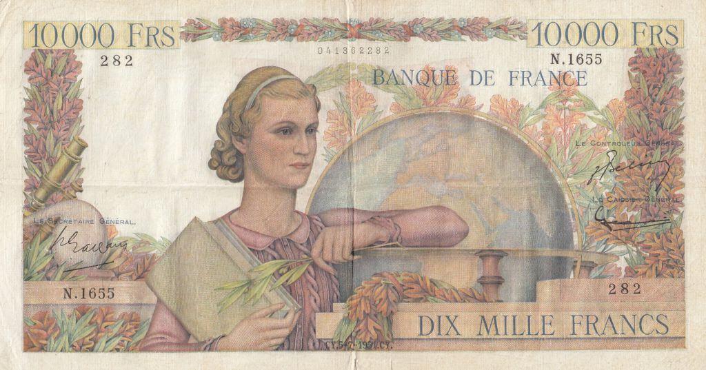 France 10000 Francs Génie Français - 05-07-1951 Série N.1655 - TB+