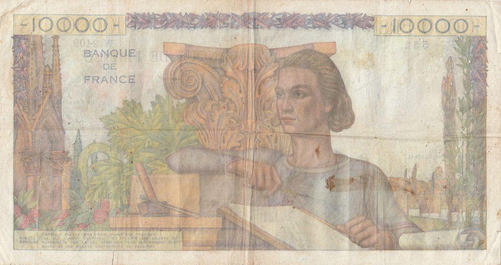 France 10000 Francs Génie Français - 06-03-1952 Série W.2409 - TB+