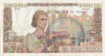 France 10000 Francs Génie Français - 06-12-1951 Série X.2127 - TTB