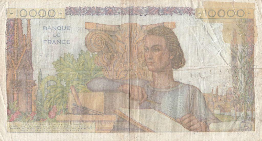 France 10000 Francs Génie Français - 16-08-1951 Série E.1792 - B