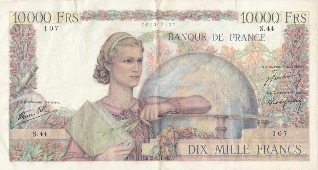 France 10000 Francs Génie Français - 21-02-1946 Série S.44-107 - TTB
