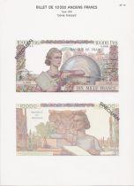 France 10000 Francs Génie Français - Specimen sheet - 1967
