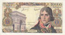 France 10000 Francs Napoleon Bonaparte- 01-03-1958 Serial X.8 - VF