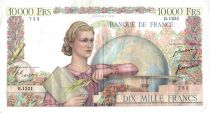 France 10000 Francs Woman with globe and book - 01-03-1951 Serial B.1221