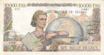 France 10000 Francs Young woman with book and globe - 03-03-1955 Serial Z.8067 - VF