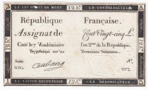 France 125 Livres - 7 Vendémiaire An II - 1793 - Sign. Aubourg - TB+