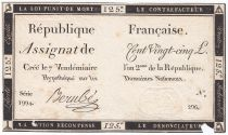France 125 Livres - 7 Vendémiaire An II - 1793 - Sign. Berubé - VG to F