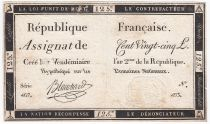 France 125 Livres - 7 Vendémiaire An II - 1793 - Sign. Blanchard - VF