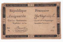 France 125 Livres - 7 Vendémiaire An II - 1793 - Sign. Bramble - B+ - Faux