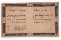France 125 Livres - 7 Vendémiaire An II - 1793 - Sign. Bramble - G+ - False
