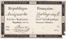 France 125 Livres - 7 Vendémiaire An II - 1793 - Sign. Bramble - PTB