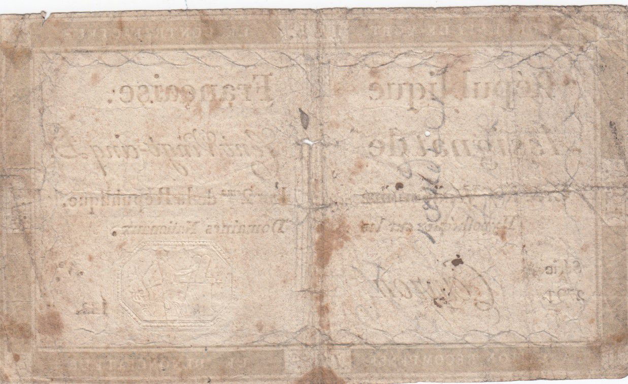 France 125 Livres - 7 Vendémiaire An II - 1793 - Sign. Capron