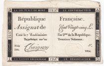 France 125 Livres - 7 Vendémiaire An II - 1793 - Sign. Chaignon - VF+