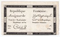 France 125 Livres - 7 Vendémiaire An II - 1793 - Sign. Colasse - VF