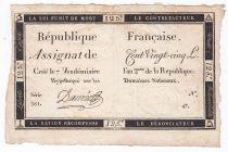 France 125 Livres - 7 Vendémiaire An II - 1793 - Sign. Daurée - VF