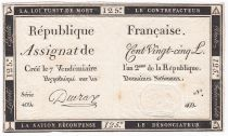 France 125 Livres - 7 Vendémiaire An II - 1793 - Sign. Deuraz - TTB+