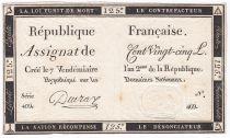 France 125 Livres - 7 Vendémiaire An II - 1793 - Sign. Deuraz - TTB+