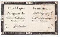 France 125 Livres - 7 Vendémiaire An II - 1793 - Sign. Duboille - PTTB