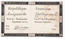 France 125 Livres - 7 Vendémiaire An II - 1793 - Sign. Duboille - PTTB