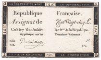France 125 Livres - 7 Vendémiaire An II - 1793 - Sign. Dubuisson - TTB